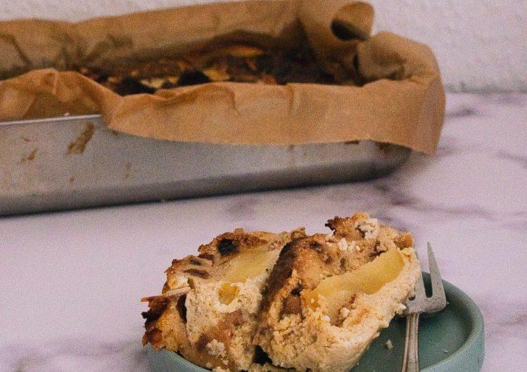 Broodpudding van left-over kerststol
