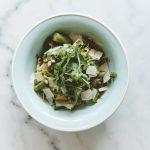 pasta met groene asperges en rucolapesto
